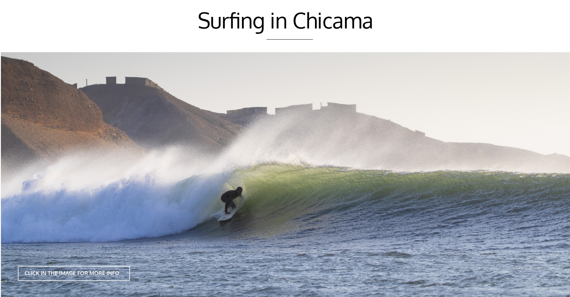 SURFING IN CHICAMA
