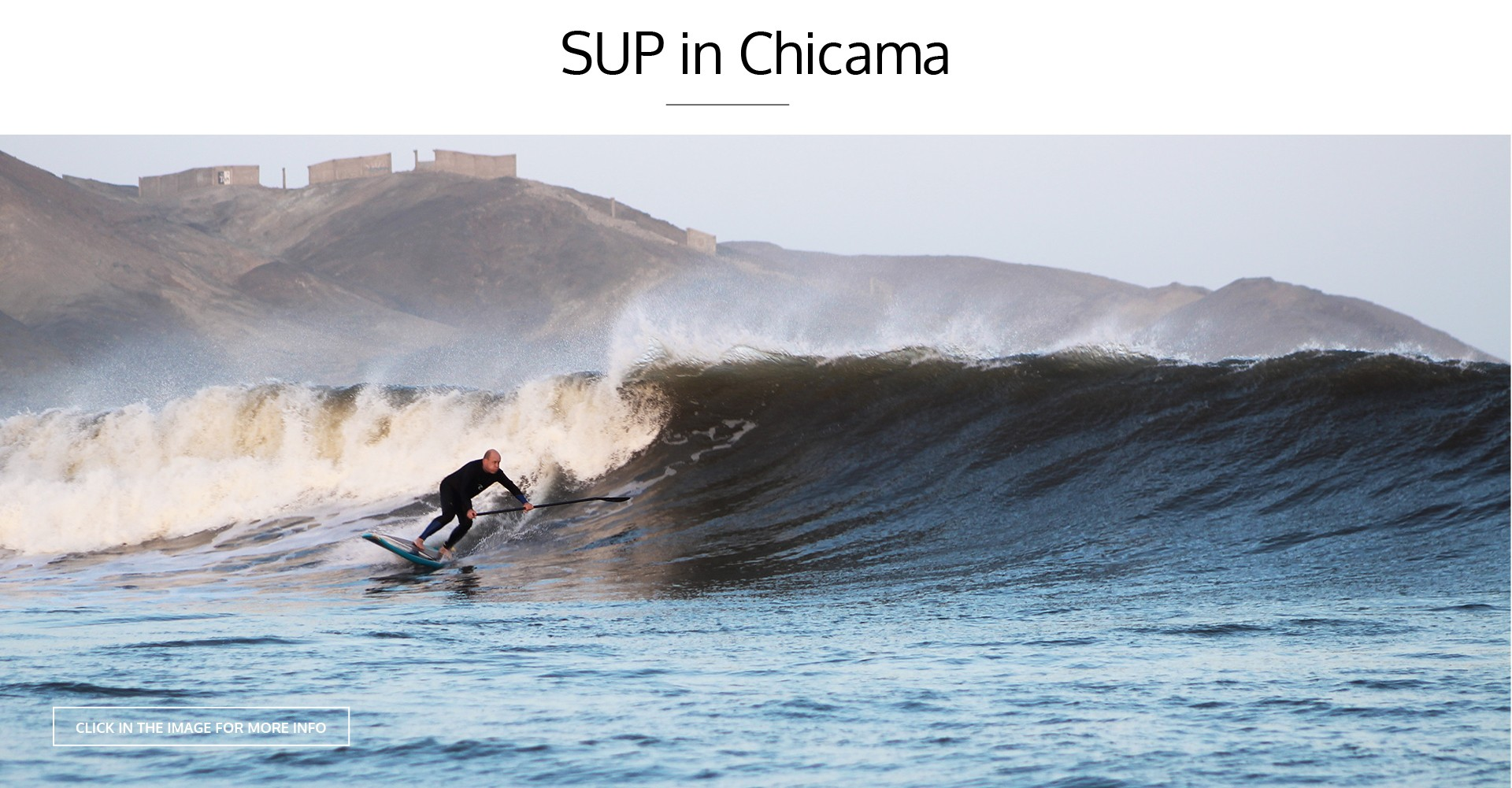 SUP IN CHICAMA